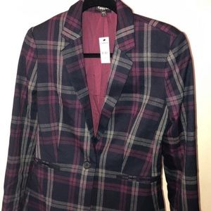 Unisex women's stripe blazer